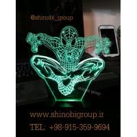 چراغ خواب رومیزی طرح مرد عنکبوتی 2