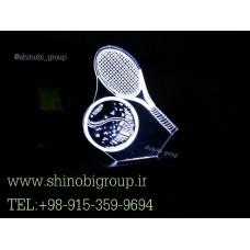 چراغ خواب رومیزی طرح تنیس سایز کوچک