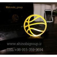 چراغ خواب رومیزی طرح توپ بسکتبال