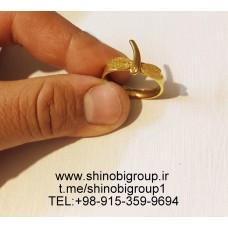 انگشتر استیل زنانه سنجاقک طلایی