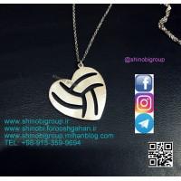 گردنبند قلب والیبال